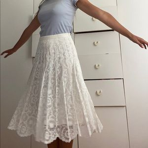 Cute summer lacy midi skirt